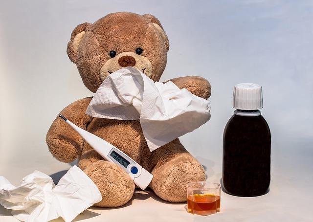 nemocný medvídek